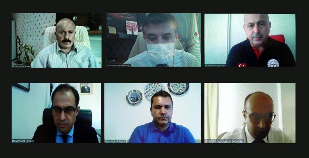 Bakan Koca, 6 il valisi ve sağlık müdürleriyle görüştü