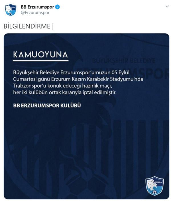 Trabzonspor'un maçı iptal edildi