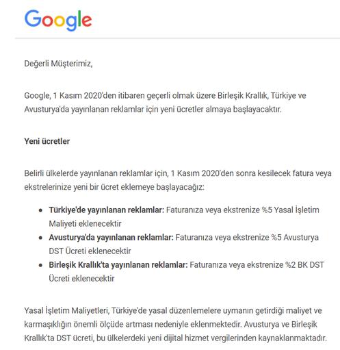 Google'dan Türkiye kararı! Kesinti yapacak
