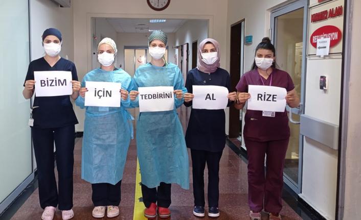 Sağlıkçılardan 'Bizim için kendini koru' çağrısı
