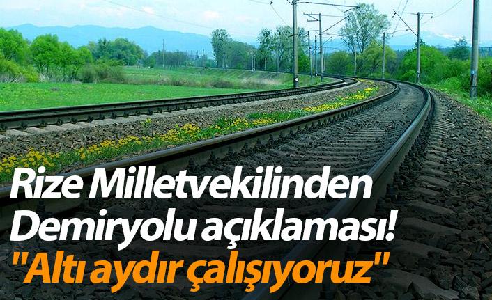 """Rize demiryolu müjdesi verdi Trabzon'dan """"İhale tarihini bekliyoruz"""" açıklaması geldi"""