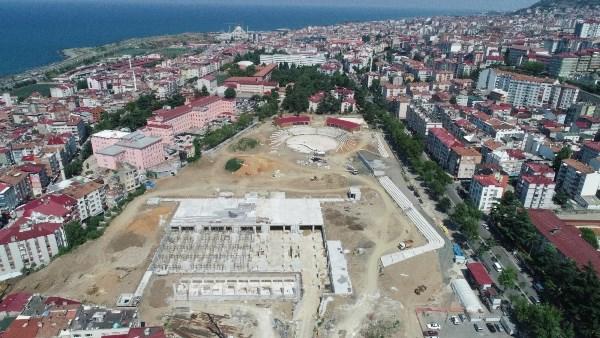 Trabzon'da Millet Bahçesi'nde son durum