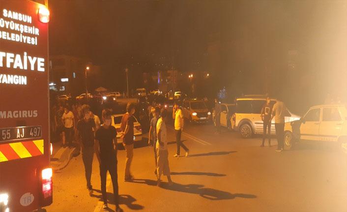 Samsun'da iki otomobil çarpıştı