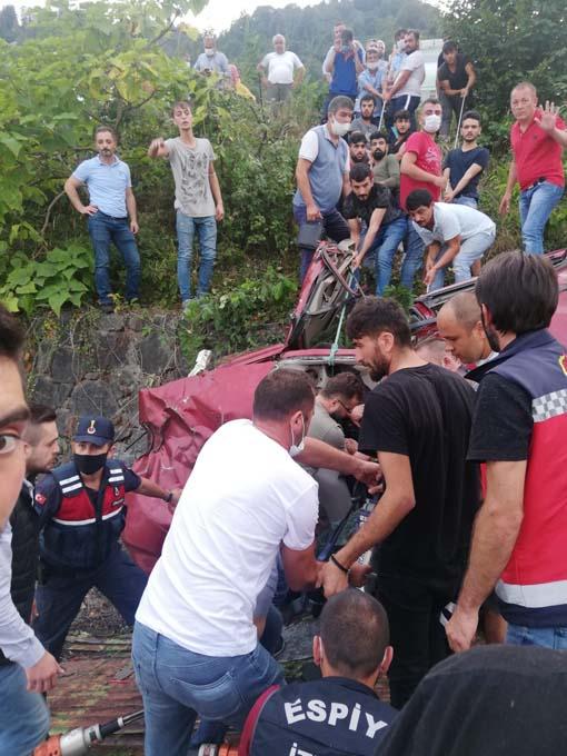 Giresun'da feci kaza: 1 ölü, 3 yaralı