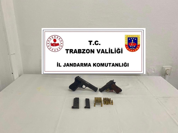 Trabzon'da silah operasyonu