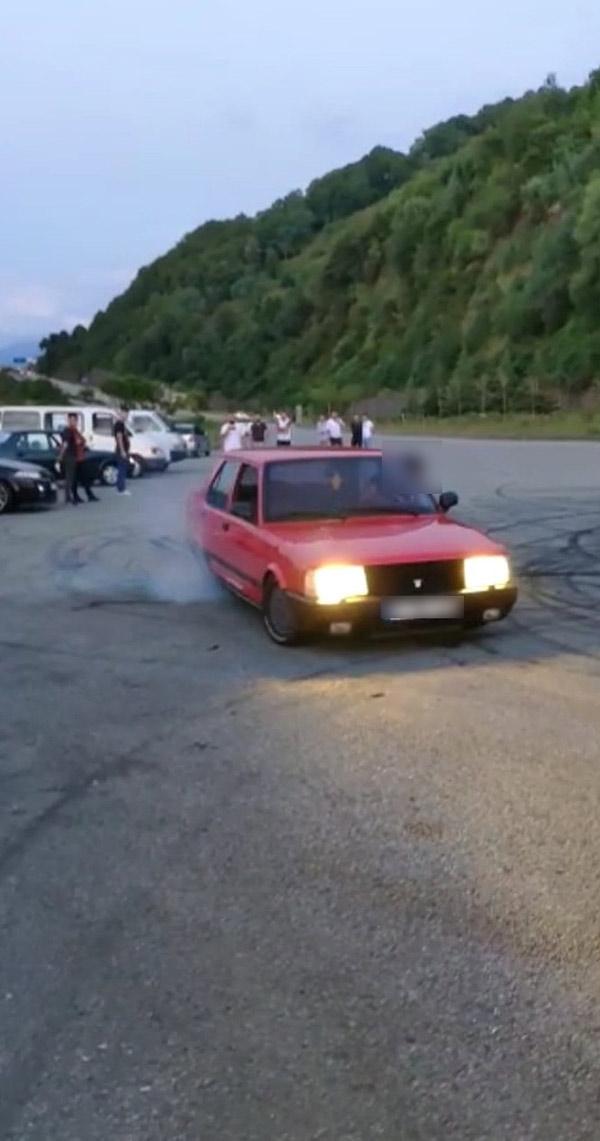 Trabzon'da drift yapan ve havaya ateş açanlara ceza yağdı