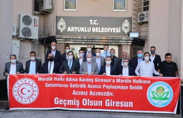 Mardin'den Giresun'a destek