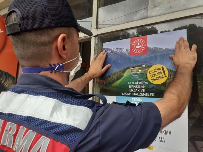 Rize'de jandarmadan yaylacılara terör örgütü uyarısı