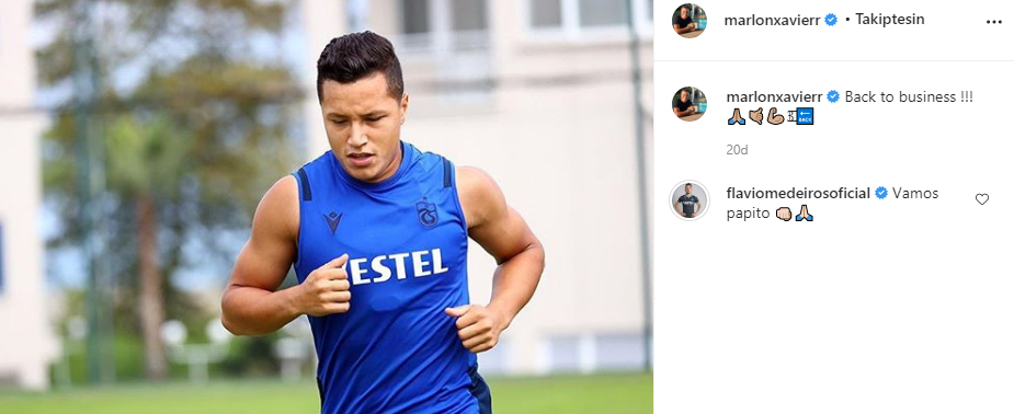 Trabzonspor'da Marlon'dan mesaj var