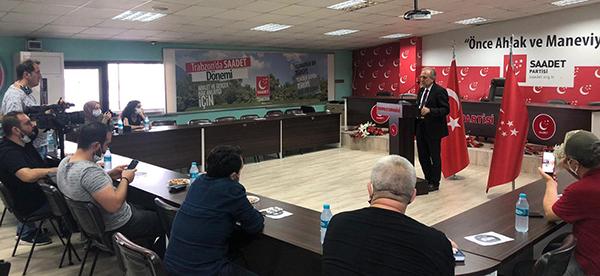 "Saadet Parti Trabzon İl Başkanı Cevat Kurt: ""Yaşanabilir bir Trabzon için…"""