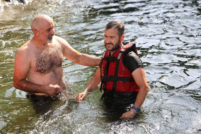 Ordu'da boğulma tehlikesi geçiren kanocu son anda kurtarıldı