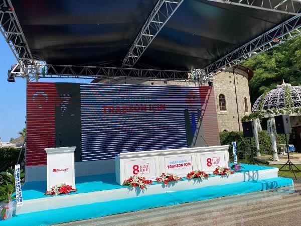Saadet Partisi Trabzon'da kongre heyecanı