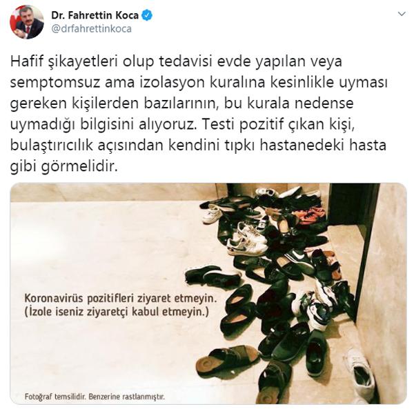 Sağlık Bakanı Koca isyan etti! Karantina evine misafir akını