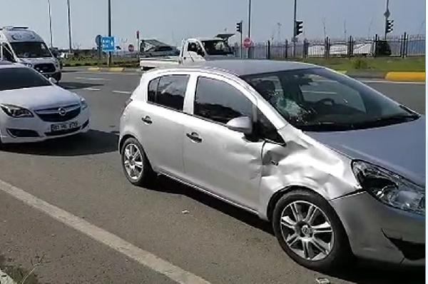 Trabzon'da kaza: Motosiklet sürücüsü ağır yaralandı