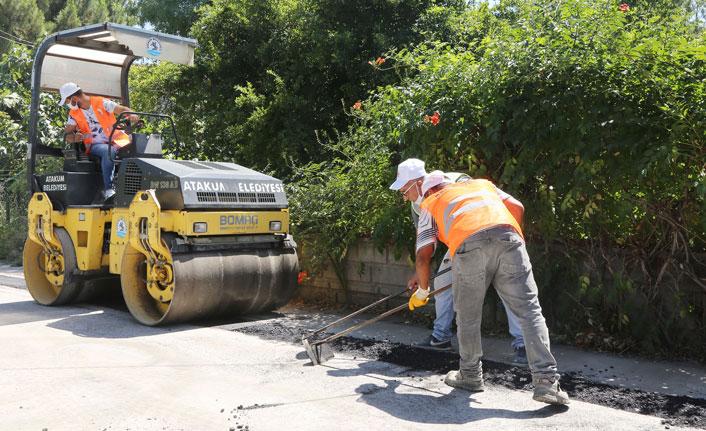 Samsun'da asfalt onarımı