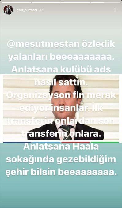 Özer Hurmacı'dan eski Başkan Mesut Mestan'a şok ifadeler