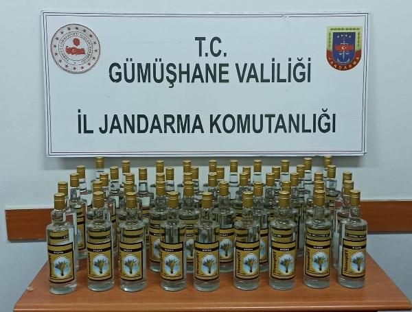 Trabzon'dan giden sahte alkol Gümüşhane'de yakalandı