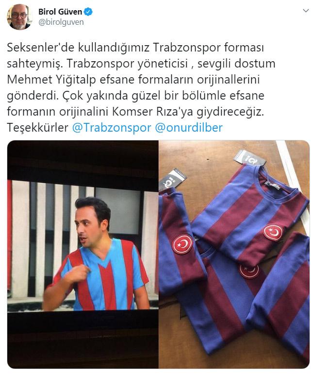 Trabzonsporlu yönetici dizideki sahte formayı gördü orjinallerini gönderdi! Yapımcıdan teşekkür geldi