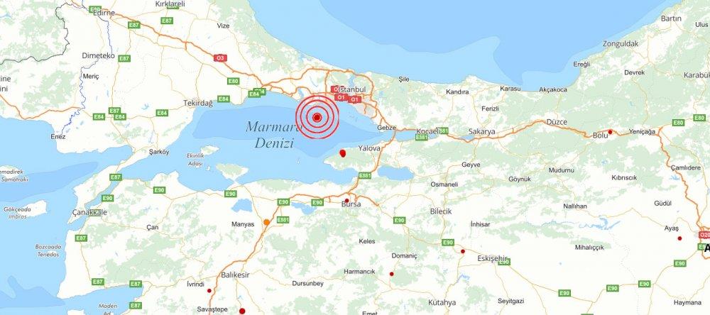 İstanbul'da 3,2 büyüklüğünde deprem!