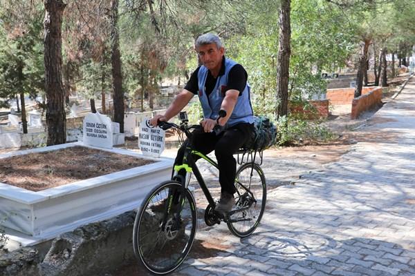Trabzon'dan Amasya'ya bisikletle gitti