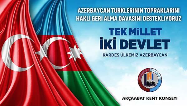 "Akçaabat Kent Konseyi: ""İki devlet tek Millet Türkiye ve Azerbaycan"""