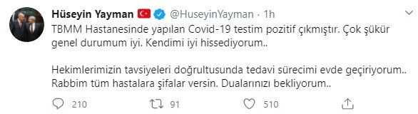 Milletvekili Hüseyin Yayman, koronavirüse yakalandı