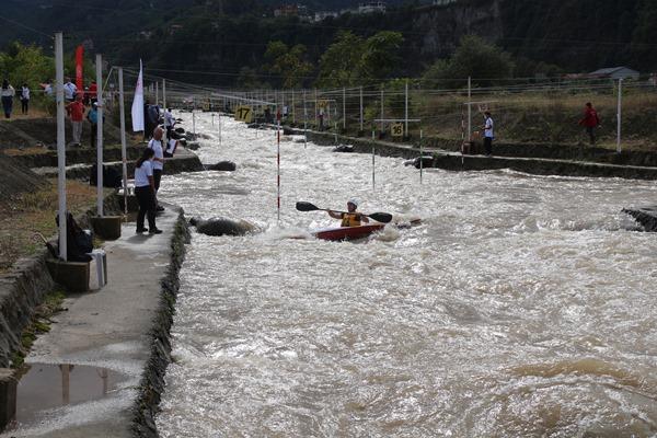 Rize'de Kano Akarsu Slalom Türkiye Şampiyonası nefes kesti