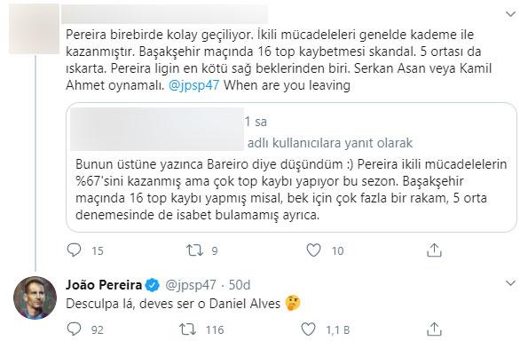 Pereira'dan 'Ne zaman ayrılıyorsun diyen' taraftara cevap!