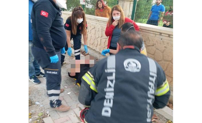 Ters dönen cip içerisinden yaralı olarak kurtarıldı