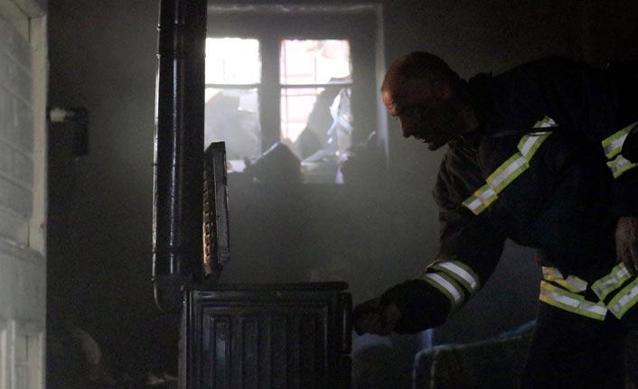 Gümüşhane'de mültecilerin kaldığı ev yandı