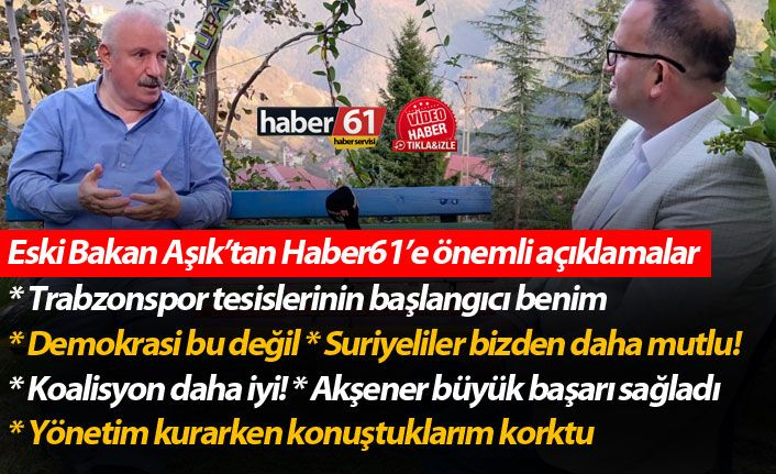 """Trabzonlu Eski Bakan'dan flaş açıklama: """"AK Parti'nin elindeki medya AK Parti'ye zarar veriyor"""""""