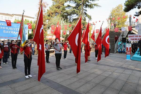 Akçaabat'ta 29 Ekim Cumhuriyet Bayramı coşkuyla kutlandı