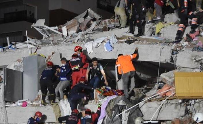 İzmir depreminde ölü sayısı artıyor