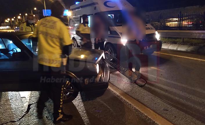 Trabzon'da film gibi olay! Polisten kaçtı ambulansa çarptı