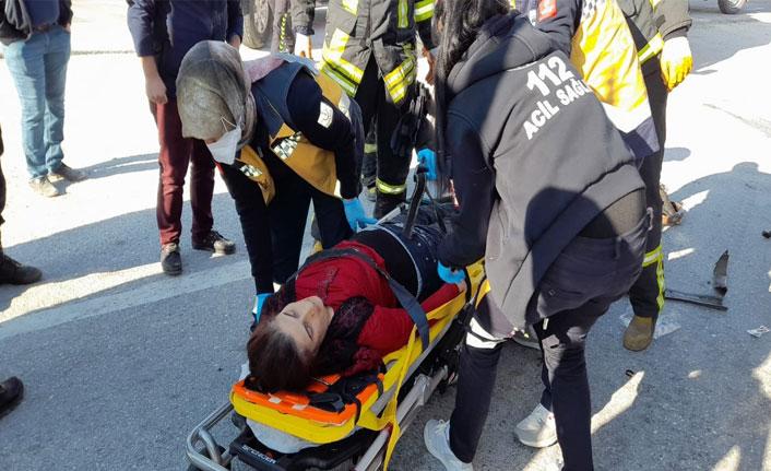 Burdur'da feci kaza: 1 ölü, 2 yaralı