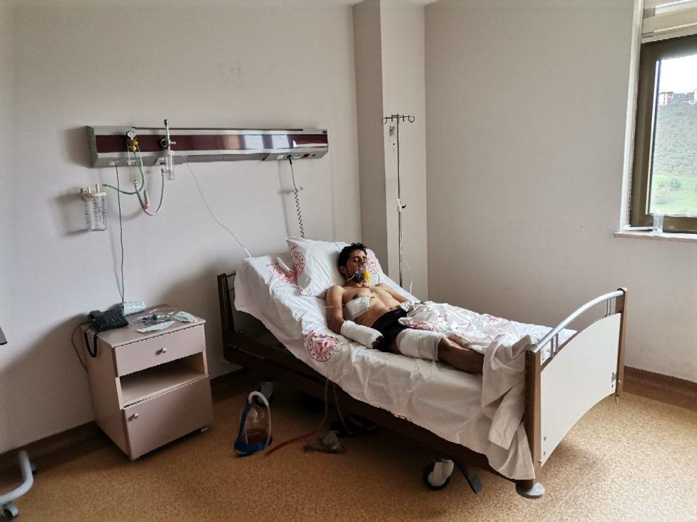 Giresun'da ayı saldırısında yaralanan kişiye koronavirüs şoku