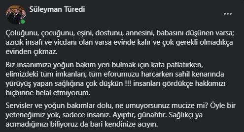"""Trabzon'da Başhekim patladı! """"Güneş görüp sahile inenler; ne umuyorsunuz mucize mi?"""""""