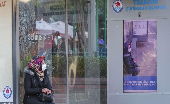 Trabzon'da koronavirüs kameralara yakalandı