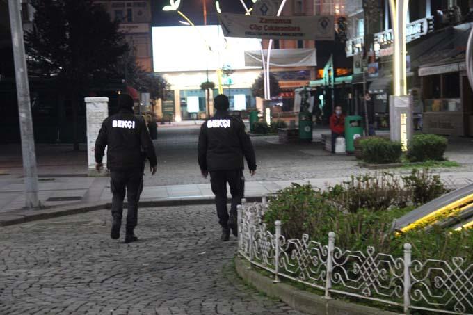 Rize'de sokaklar sessiz