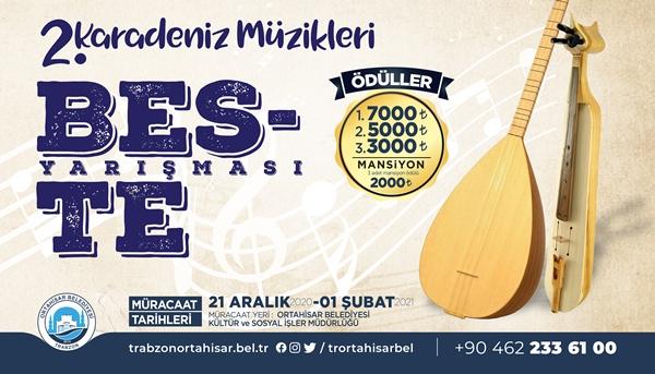 Ortahisar'dan ödüllü beste yarışması!