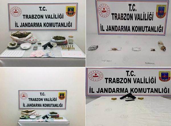 Trabzon'da uyuşturucu operasyonu! 5 Gözaltı