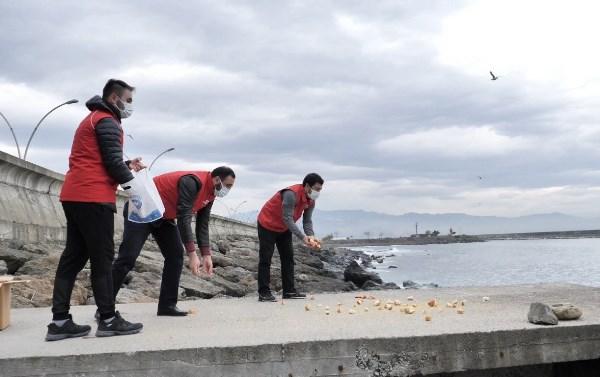 Trabzon'da sokağa çıkma yasağında onlar unutulmadı