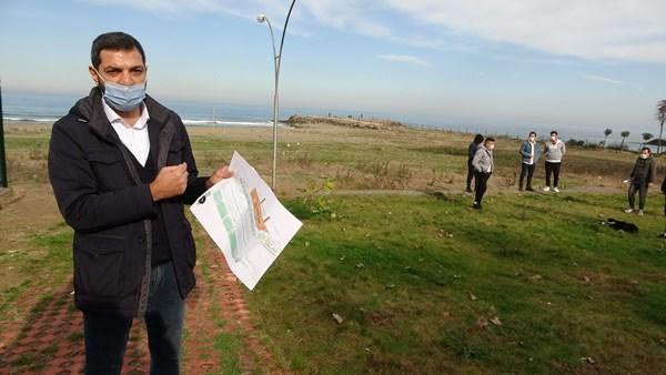 Trabzon'un doğal kalmış plajına yapılacak çevre sakinlerini isyan ettirdi