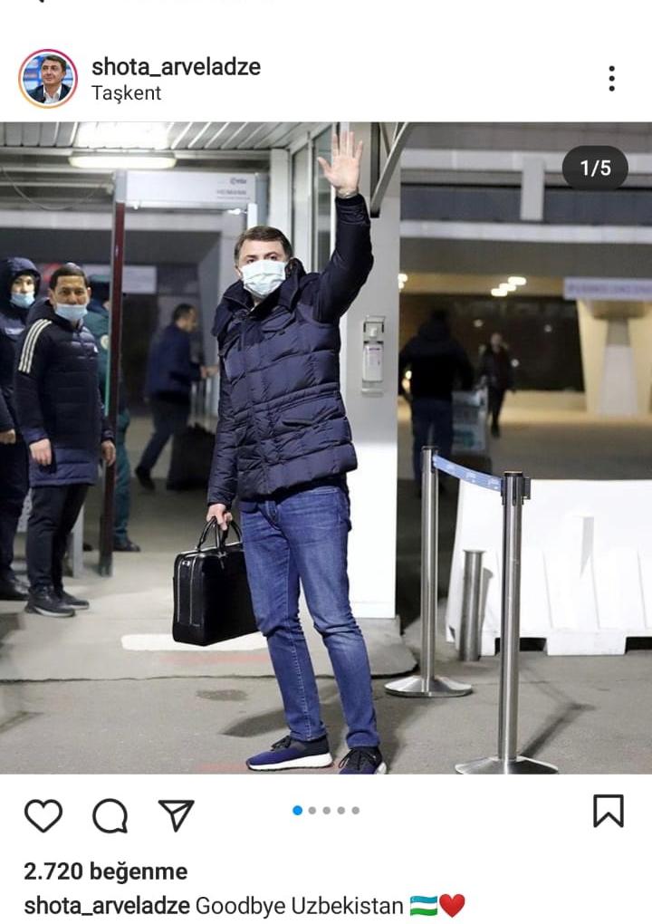 Şota Özbekistan'dan ayrıldı.