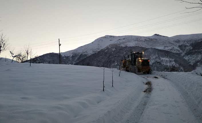 Trabzon'da 82 köyün yolu açıldı
