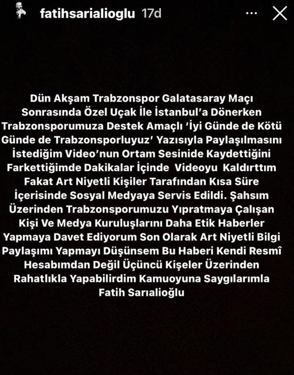 Başkan Ahmet Ağaoğlu'nun görüntülerini çeken isimden açıklama