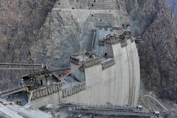 Artvin'de Yusufeli Barajı'nda son 10 metre