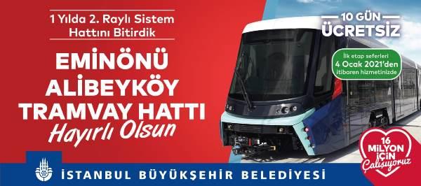 İstanbul'un yeni tramvay hattı hizmete giriyor!