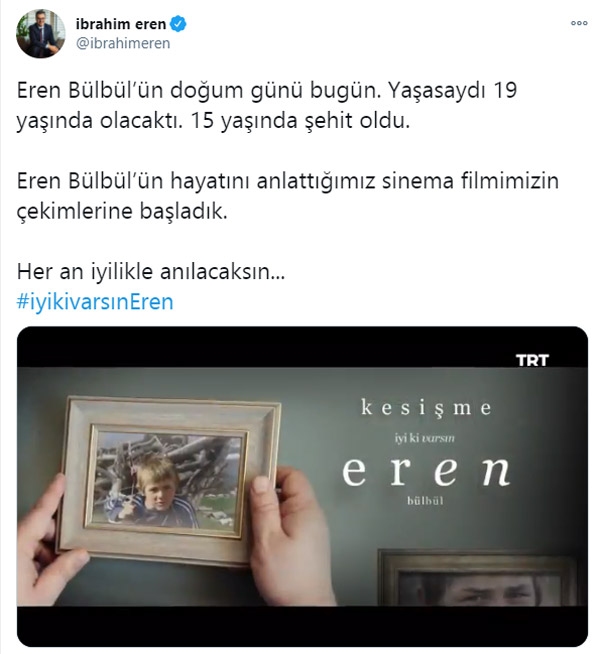 """TRT'den """"İyi ki Varsın Eren"""" filmi! İlk fragmanı paylaşıldı"""