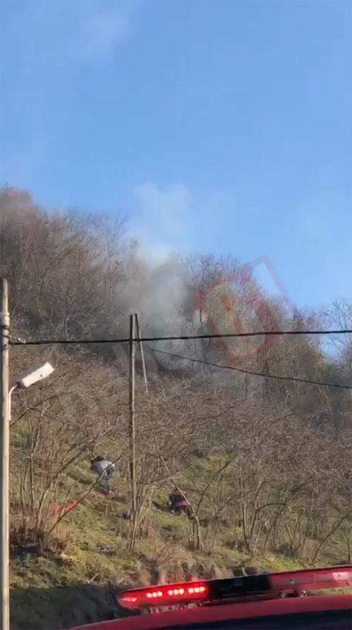 Trabzon'da yeni yılın ilk gününde orman yangını